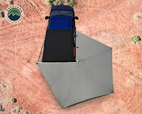 Overland Vehicle Systems Nomadic 270 LT Awning - Passenger Side - Dark Gray Cover with Black Cover Universal
