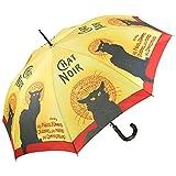 VON LILIENFELD Paraguas de Iluvia Largo Clásico Automático Grande Estable Mujer Motivo Arte Chat Noir