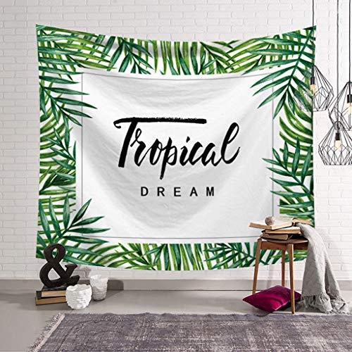 Tapis De Feuille Tropicale Vision 3D Art Naturel Literie Couverture De Lit Nappe De Pique-Nique Feuilles De Plage Hyococ (Color : A, Size : 153x130)