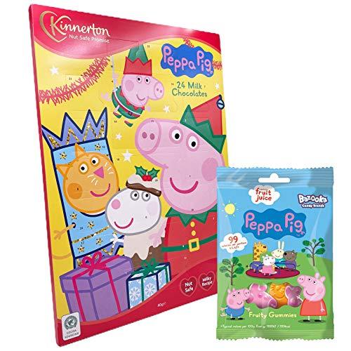 JuniorToys Peppa Pig Adventskalender mit Milchschokolade und Fruchtgummi Peppa Wutz