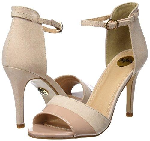 Buffalo Shoes IMI SUEDE PAT PU, Sandalen, Beige - 7