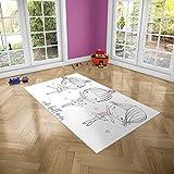 Oedim Alfombra Infantil Bailarinas para Habitaciones PVC | 95 x 165 cm | Moqueta PVC | Suelo vinílico | Decoración del Hogar | Suelo Sintasol | Suelo de Protección Infantil |