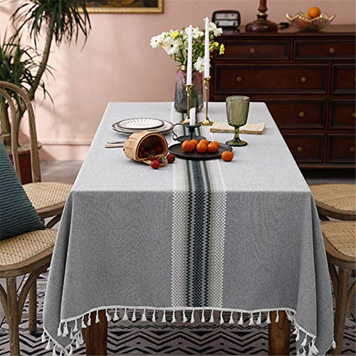 Poliéster Gris Comedor Hogar Cocina Sala De Estar Mantel Bordado Camino De Mesa Mantel Mesa De Café Mantel Rectángulo Redondo 100x160cm