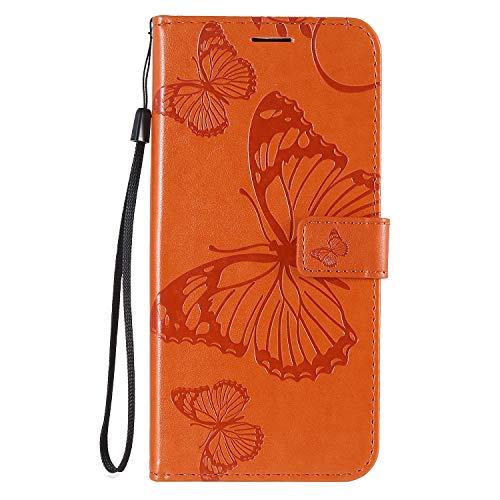 Hülle für LG K61 Hülle Handyhülle [Standfunktion] [Kartenfach] Schutzhülle lederhülle klapphülle für LG K61 - DEKT042776 Orange