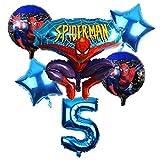 CHENZHAOL Bebé Globo 6 unids/Set Spider Man Homecoming Happy Birthday Party Globos 32 Pulgadas Número Ballon Inflable Globos de Helio Decoraciones Niños (Color : Burgundy)