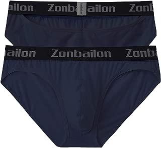 ZONBAILON Men Briefs Sexy Underwear Low Rise Premium Underpants for Men Hip Slotted