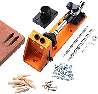 All-in-one Aluminum Pocket Hole Jig with Base and 40 Jig Accessories