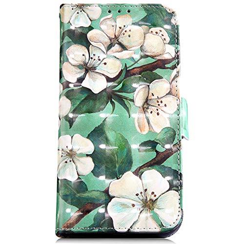 Felfy Pelle Cover Compatibile con Nokia 5.1 Plus Custodia Portafoglio,Compatibile con Nokia 5.1 Plus Cover Flip Cuoio Libro Dipinto Design Wallet PU Case Chiusura Magnetica Slot per Schede.Fiore