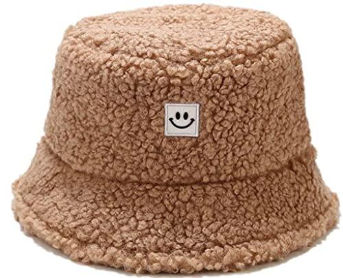JFAN Cappello da Pescatore Progettazione di Smiley Donna Unisex Invernale Caldo Creativo Peluche Adatto per Uscire