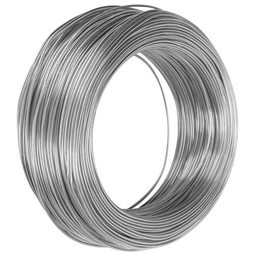 Guoshiy Alambre de Metal Flexible, línea de Modelado Hecha a Mano Alambre de Aluminio Recubierto de Plata para Manualidades para fabricación de Marcos para esculturas