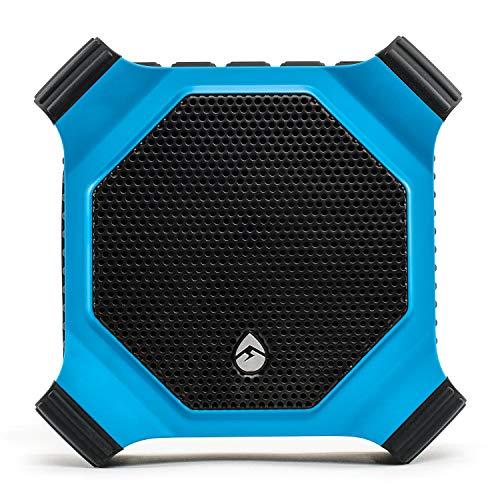 ECOXGEAR EcoDrift Rugged & Waterproof Wireless Tooth Speaker with Integrated Siri & Google Voice Control - Blue (Renewed)