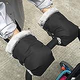 ベビーカー用手袋 ベビーカー ハンドマフ 手袋 保温 撥水 厚手 2020最新版 防寒手袋 あったか 肌触わりいい 男女兼用 装着簡単 出産祝い 36*22cm