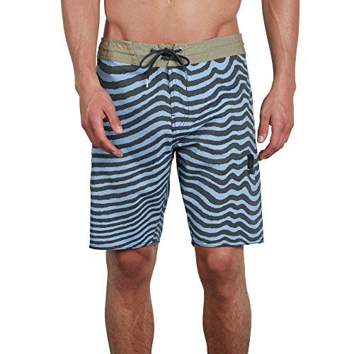 Volcom Men's Mag Vibes Stoney 19' Boardshort Board Shorts, Stone Blue, 40