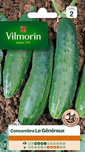 Vilmorin 3454042 Concombre, Vert, 90 x 2 x 140 cm