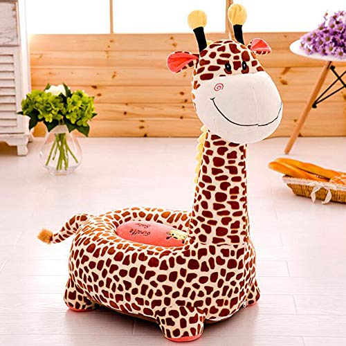YYSDH Chaise bébé Salon, Salle de siège Cartoon Animal Portable Chaise bébé Souple Soutien Siège de sécurité Sièges 45,0 cm * 50,0 cm * 80,0 cm,Brown2