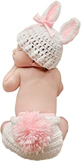 Newborn Baby Photography Props Infant Boy Girl Knit Rabbit Photo Outfits