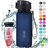 """720°DGREE Trinkflasche """"uberBottle"""" softTouch +Früchtebehälter - 650ml - BPA-Frei -..."""