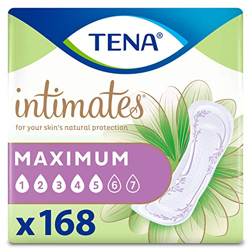 TENA Intimates Maximum Absorbency Incontinence/Bladder Control Pad, Regular Length, 168 Count (Packaging May Vary)