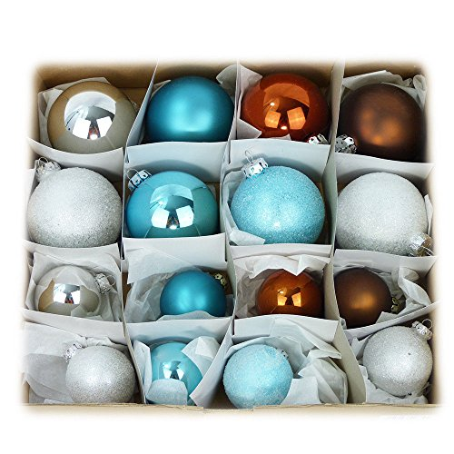 Unbekannt 32er Rödentaler Eiszeit Kugeln Glas 6-8cm Weihnachtskugeln Eislack Baumschmuck