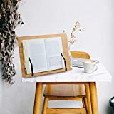 FOCCTS Soporte de Bambú Ajustables Ideal para Leer, Ver Videos, Estudiar,Sostener,Libros de Cocina,Notas Musicales,IPad y Tablet (34*24cm)