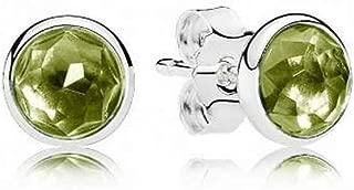 PANDORA August Droplets Stud Earrings, Peridot 290738PE