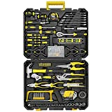 W WZG Werkzeug 199 Pcs Home Repair Tool Kit Mechanics & Household Tool set Hand Tool Toolbox Rip Claw Hammer,Lineman's Plier, Measure Tape Rule for Home DIY Projects Repairs and Basic Full Set With Plastic Toolbox