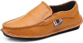 メンズカジュアルフラットローファー ビジネスシューズローファー&スリップオン怠惰な靴、ウォーキング、ショッピング、旅行。