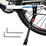 Suvi Pata de Cabra para Bicicleta,Caballete Lateral Bicicleta de Altura Ajustable,Pata de Cabra Bicicleta con Antideslizante Patas de Goma para 22-28 Pulgadas Montaña,Carretera,Plegable Bicicleta