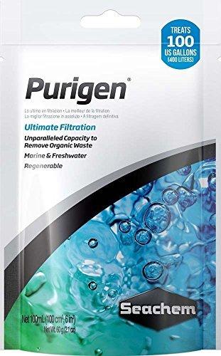 Seachem Purigen Ultimate Filtration 100 ml. Bag Aquarium Fish Tank Filter Media by Seachem