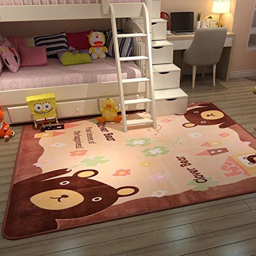 GRENSS Sofá de salón Grueso con alfombras de Dibujos Animados y sofá de Dormitorio con literas Laterales y la habitación de la Princesa Lindo bebé niños Gateo y 100 * 150 cm, Oso de Dibujos Animados