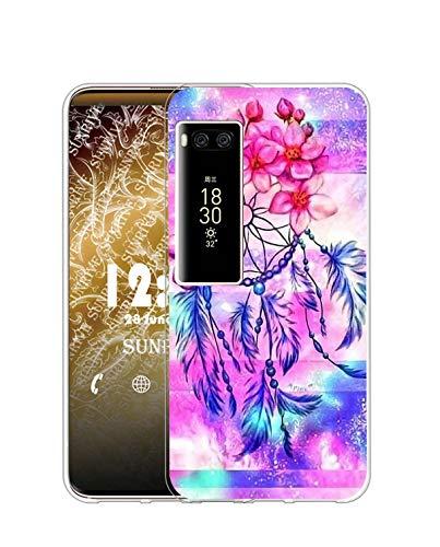 Sunrive Kompatibel mit Meizu PRO 7 Plus Hülle Silikon, Transparent Handyhülle Schutzhülle Etui Hülle (Q Traumfänger)+Gratis Universal Eingabestift MEHRWEG