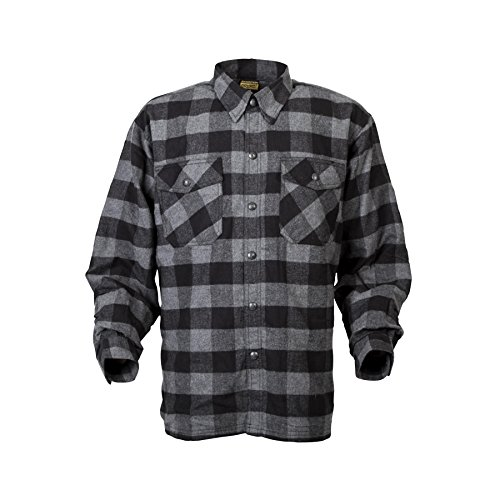 ScorpionExo Men's Covert Flannel Jacket(Black/Gray, Large), 1 Pack