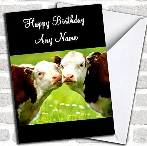 Leuke Kussen Koeien Romantische Verjaardag Kaart Met Envelop, Kan Volledig Gepersonaliseerd, Verzonden Snel & Gratis