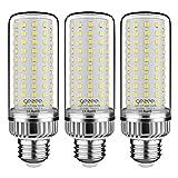 GEZEE Lampadine LED di mais, E27 LED da 25W,2500LM, 200W equivalenti a incandescenza, Bianca Freddo 6000K Non Dimmerabile, Edison Lampadine Mais(3 pezzi)