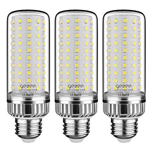 GEZEE E27 LED Ampoules de Maïs, 25W 2500LM,200W Équivalent Ampoules à Incandescence, Blanc Froid 6000K, AC 230V, Non Dimmable, Sans Scintillement(Pack de 3)