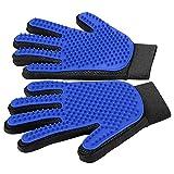 WEILIC Enthaarungshandschuhe für Haustiere – weiche Handschuhe für Haustiere – effektive Enthaarungshandschuhe – für Hunde und Katzen mit Langen und kurzen Borsten – Linke und rechte Hand (blau)