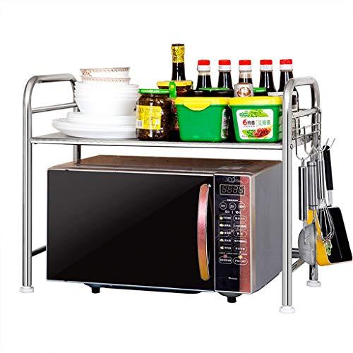 YxSD - Estante de cocina para suelo de mesa multifunción de acero inoxidable, 60 x 32 x 48 cm