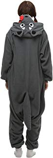 Unisex Adult Pajamas One Piece Cosplay Wolf Animal Halloween Costume