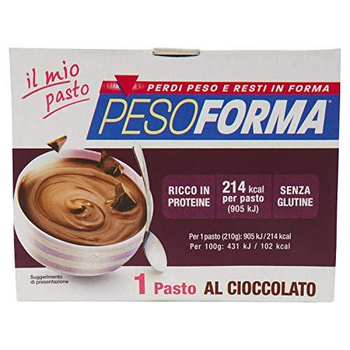 Pesoforma, Coppa Budino Al Cioccolato - X1 Pasto Sostitutivo Dimagrante Senza Glutine Solo 221 Kcal - Ricco In Proteine, Crema Al Cioccolato, 210 Grammo