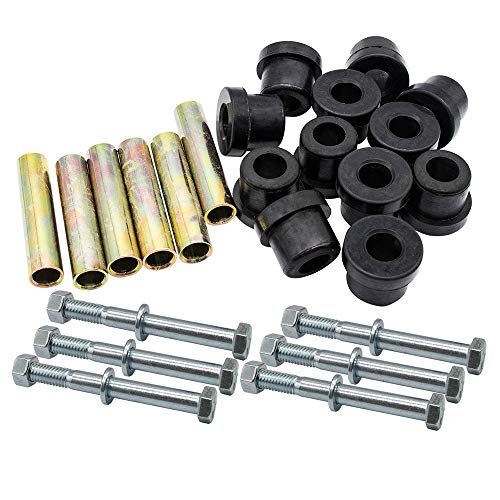 No. 1 accessories Front or Rear Leaf Spring& Front Upper A Arm Suspension for Club Car DS Golf Cart,Bushing and Sleeve & Screw Kit (2 Set Rear Leaf Spring)