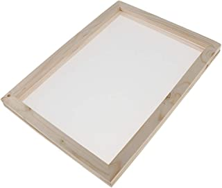 Baosity 2 in 1 Wooden Paper Making Papermaking Mould Frame Screen Tools for Paper Handcraft DIY Paper Craft 18x12.5cm