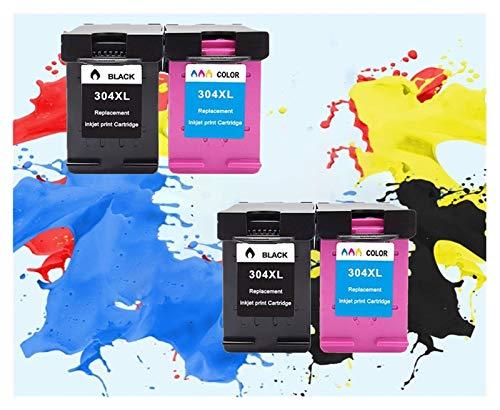 LIUYB Cartucho de Tinta 304XL Nueva versión for Hp304 XL for Deskjet 2630 Envidia 2632 5030 2620 5020 5032 3720 3730 5010 Impresora (Color : 2set)