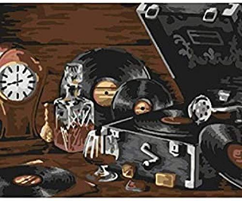 WOMGD® Legpuzzel 1000 stukjes, oude platenspeler Stilleven Houten puzzels, educatief spel Stress Reliever Moeilijk uitdagingsspeelgoed voor kinderen