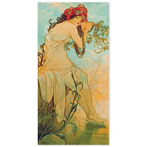 JUNIWORDS Poster, Alfons Maria Mucha, Jahreszeiten, Sommer, 20 x 40 cm