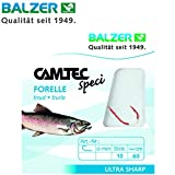 Balzer Camtec Forelle 60cm rot - 10 gebundene Forellenhaken zum Angeln auf Forellen, Haken zum...