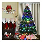 7' Pre-Lit Fiber Optic Artificial Christmas Tree w/Multicolor LED...