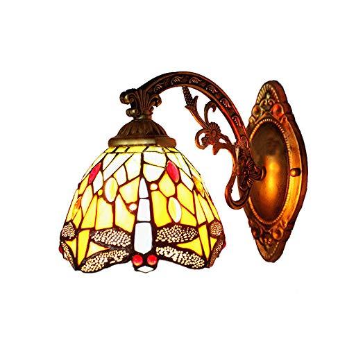 BAYCHEER Wandleuchte Tiffany Lampe LIBELLE Wandlampe Schlafzimmerlampe Flurlampe Retrolampe