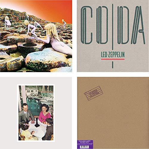 House Of The Holy - Coda - Presence - In Through The Out Door - Led Zeppelin 4 LP Vinyl Album Bundling - HQ Remastered Vinyl 180g