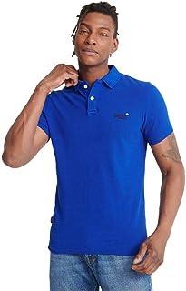 Superdry Classic Pique Short Sleeved Polo Shirt - Vivid Cobalt Blue