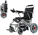 WXDP Self-propelled Lightweight Foldable Power Lightweight Electric Foldable and Mobile Safe 360° Joystick All Terrain Power Chair Compact Mobility Dual Motor Comfort